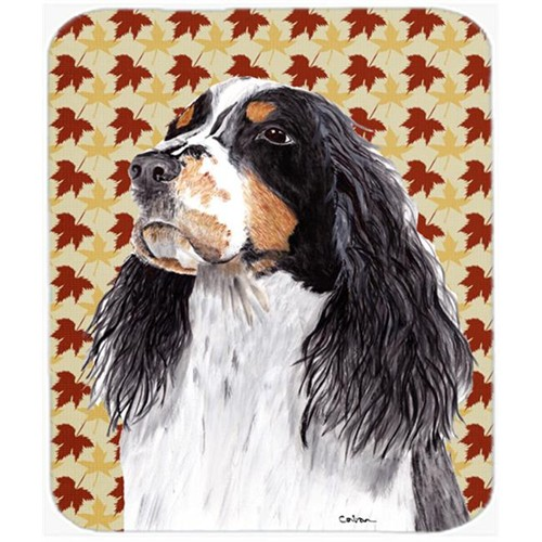 Carolines Treasures SC9202MP Springer Spaniel Fall Leaves Portrait Mouse Pad Hot Pad or Trivet