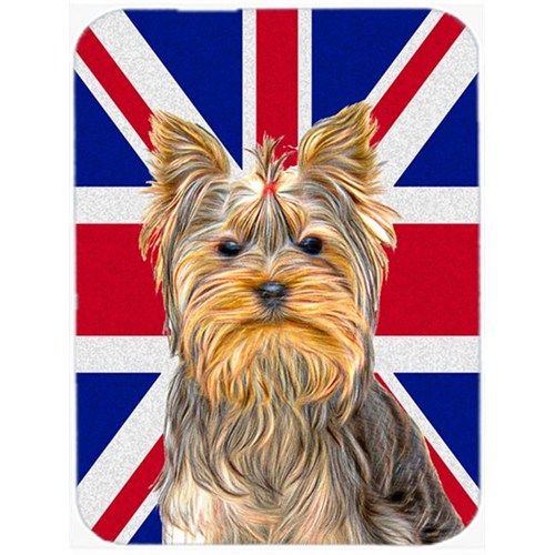Carolines Treasures KJ1163MP Yorkie & Yorkshire Terrier with English Union Jack British Flag Mouse Pad Hot Pad or Trivet