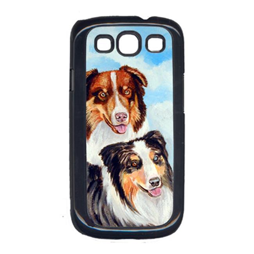 Carolines Treasures 7009GALAXYSIII Australian Shepherd Double Trouble Cell Phone Cover Galaxy S111