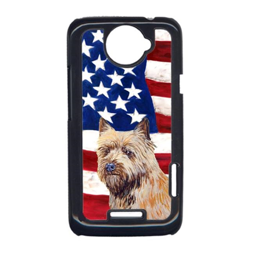 Carolines Treasures LH9020HTCONE USA American Flag With Cairn Terrier HTC One X Cell Phone Cover