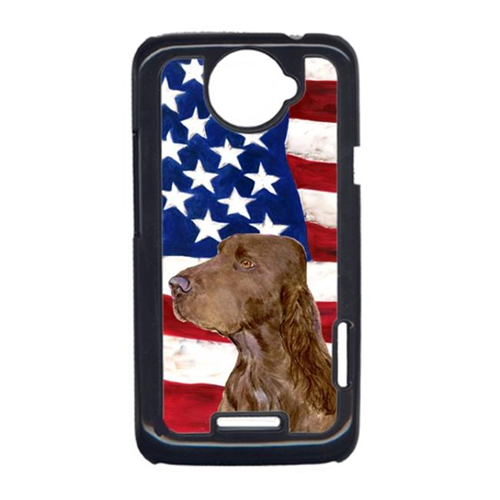 Carolines Treasures SS4010HTCONE USA American Flag With Field Spaniel HTC One X Cell Phone Cover