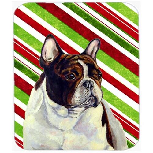 Carolines Treasures LH9247MP French Bulldog Candy Cane Holiday Christmas Mouse Pad Hot Pad Or Trivet