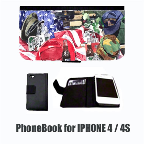 Carolines Treasures 1012-NBIP4 Barqs and Armed Forces Cell Phonebook Cell Phone case Cover for IPHONE 4 or 4S