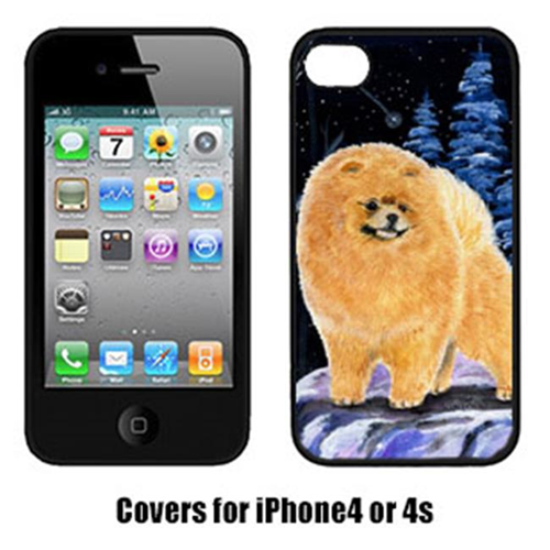 Carolines Treasures SS8396IP4 Starry Night Pomeranian Cell Phone cover IPhone 4