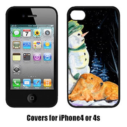 Carolines Treasures SS8555IP4 Snowman With Lakeland Terrier Iphone4 Cover