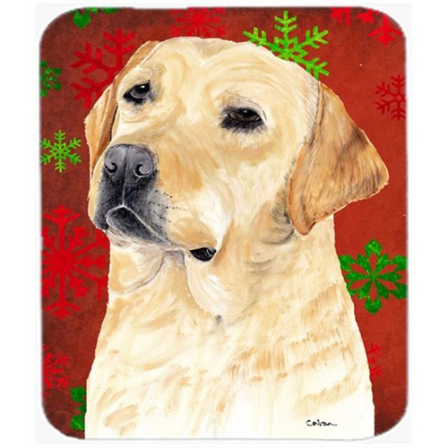 Carolines Treasures SC9416MP Labrador Red And Green Snowflakes Christmas Mouse Pad Hot Pad Or Trivet