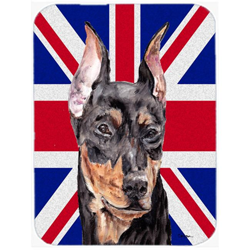 Carolines Treasures SC9872MP 7.75 x 9.25 In. German Pinscher With English Union Jack British Flag Mouse Pad Hot Pad Or Trivet