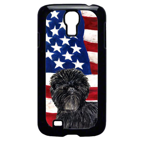 Carolines Treasures SS4038GALAXYS4 USA American Flag With Affenpinscher Galaxy S4 Cell Phone Cover