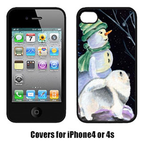 Carolines Treasures SS8557IP4 Snowman With Keeshond Iphone4 Cover
