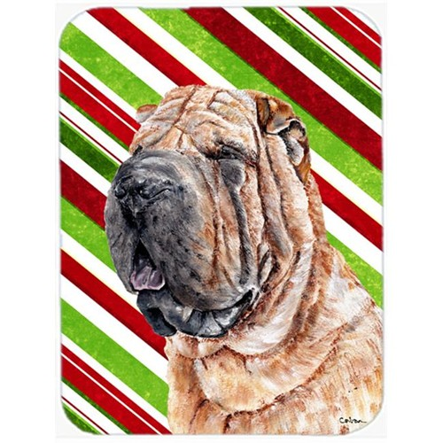 Carolines Treasures SC9791MP Shar Pei Candy Cane Christmas Mouse Pad Hot Pad Or Trivet 7.75 x 9.25 In.