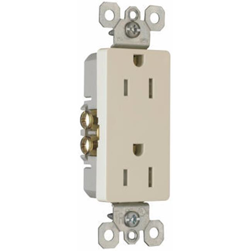 Pass & Seymour 885TRLACP5 Decorator Outlet 15A Light Almond