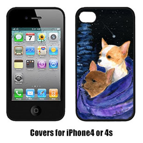 Carolines Treasures SS8513IP4 Starry Night Chihuahua Iphone4 Cover