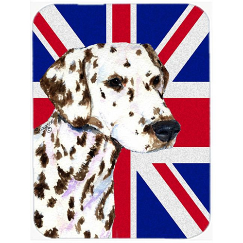 Carolines Treasures SS4911MP 7.75 x 9.25 In. Dalmatian With English Union Jack British Flag Mouse Pad Hot Pad Or Trivet