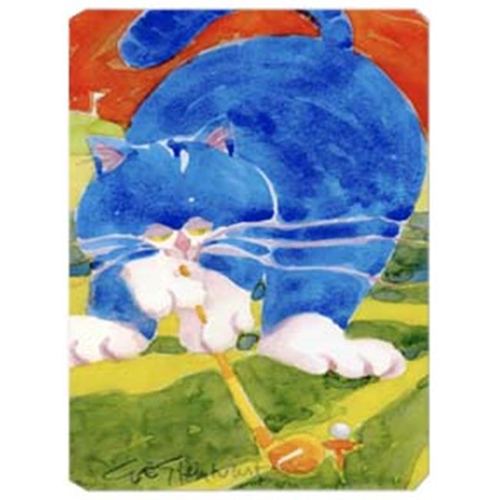 Carolines Treasures 6011MP 9.5 x 8 in. Blue Cat Golpher Mouse Pad Hot Pad Or Trivet