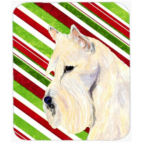 Carolines Treasures SS4599MP Scottish Terrier Candy Cane Holiday Christmas Mouse Pad Hot Pad Or Trivet