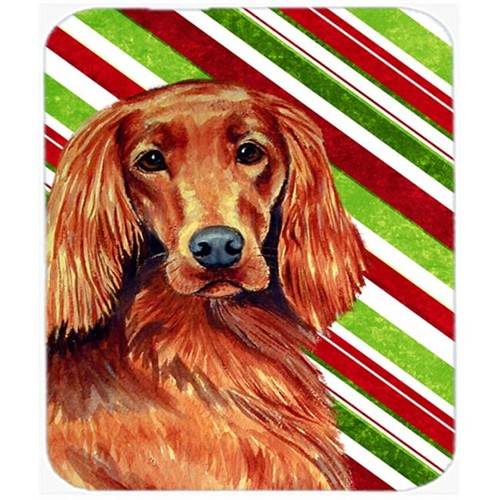 Carolines Treasures LH9254MP Irish Setter Candy Cane Holiday Christmas Mouse Pad Hot Pad Or Trivet