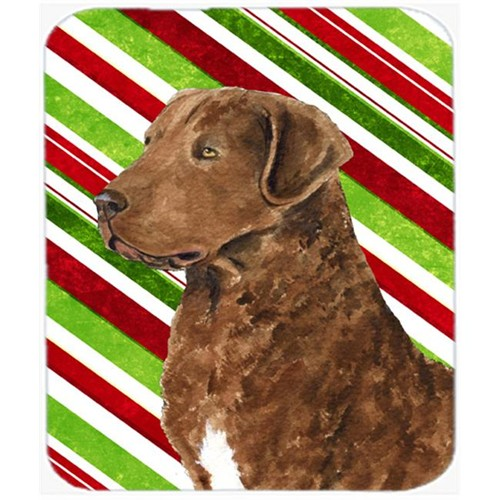 Carolines Treasures SS4600MP Chesapeake Bay Retriever Candy Cane Christmas Mouse Pad Hot Pad Or Trivet
