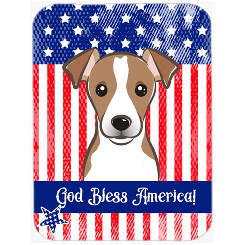 Carolines Treasures BB2190MP God Bless American Flag with Jack Russell Terrier Mouse Pad Hot Pad or Trivet