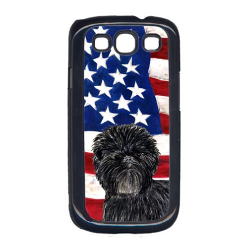Carolines Treasures SS4038GALAXYS3 USA American Flag with Affenpinscher Cell Phone Cover GALAXY S111
