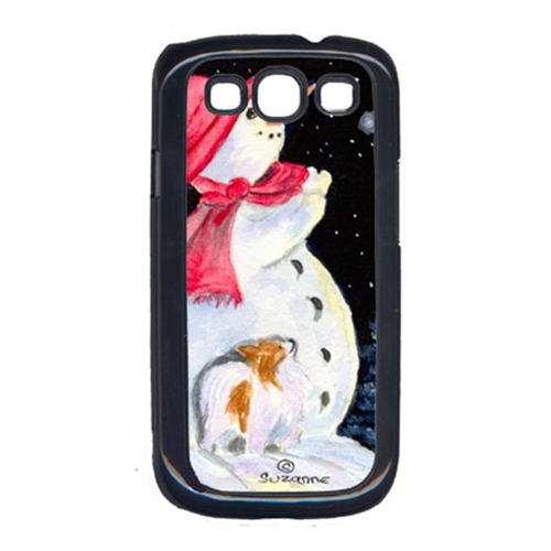 Carolines Treasures SS8793GALAXYSIII Snowman With Papillon Cell Phone Cover Galaxy S111