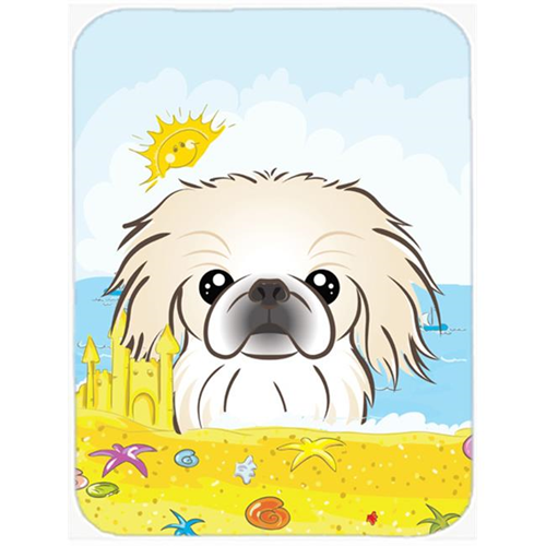 Carolines Treasures BB2089MP Pekingese Summer Beach Mouse Pad Hot Pad or Trivet