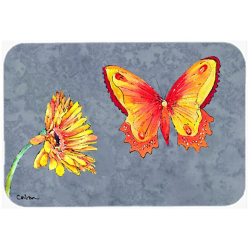 Carolines Treasures 8877MP 9.5 x 8 in. Gerber Daisy and Buttefly Mouse Pad Hot Pad or Trivet