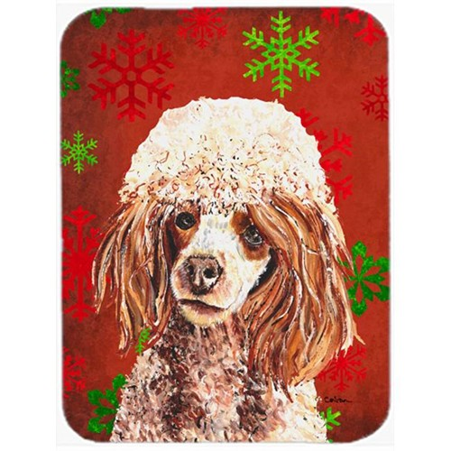 Carolines Treasures SC9747MP Red Miniature Poodle Red Snowflakes Holiday Mouse Pad Hot Pad Or Trivet 7.75 x 9.25 In.