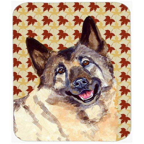 Carolines Treasures LH9128MP Norwegian Elkhound Fall Leaves Portrait Mouse Pad Hot Pad or Trivet
