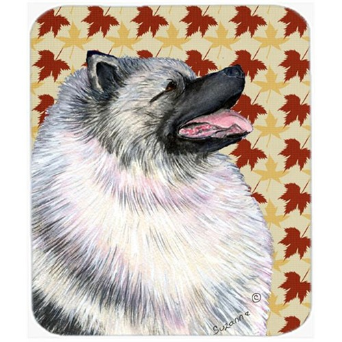 Carolines Treasures SS4368MP 9.5 x 8 in. Keeshond Fall Leaves Portrait Mouse Pad Hot Pad or Trivet
