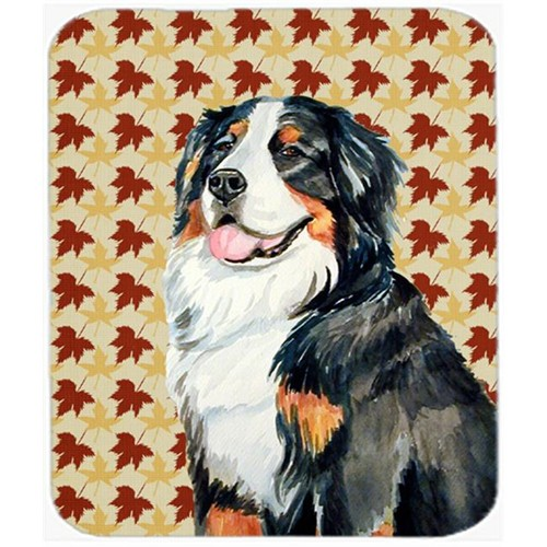 Carolines Treasures LH9109MP Bernese Mountain Dog Fall Leaves Portrait Mouse Pad Hot Pad or Trivet