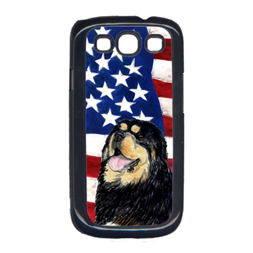 Carolines Treasures SS4039GALAXYS3 USA American Flag with Tibetan Mastiff Cell Phone Cover GALAXY S111