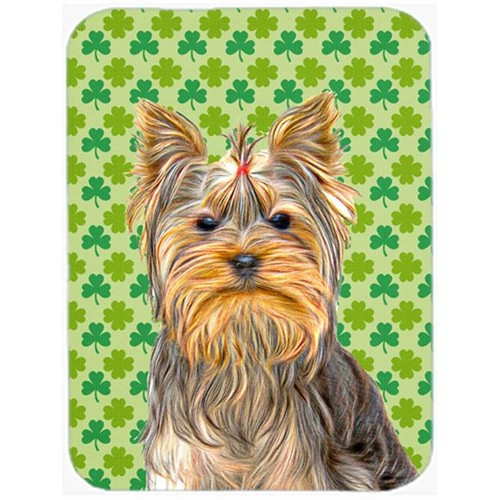 Carolines Treasures KJ1198MP St. Patricks Day Shamrock Yorkie & Yorkshire Terrier Mouse Pad Hot Pad or Trivet
