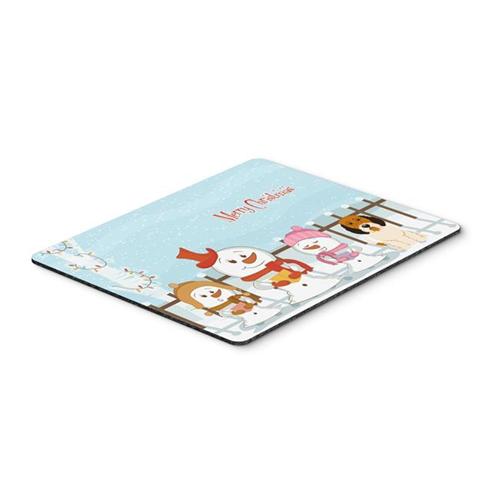 Carolines Treasures BB2410MP Merry Christmas Carolers Petit Basset Griffon Veenden Mouse Pad Hot Pad or Trivet