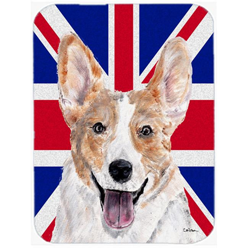 Carolines Treasures SC9891MP 7.75 x 9.25 In. Cardigan Corgi With English Union Jack British Flag Mouse Pad Hot Pad Or Trivet