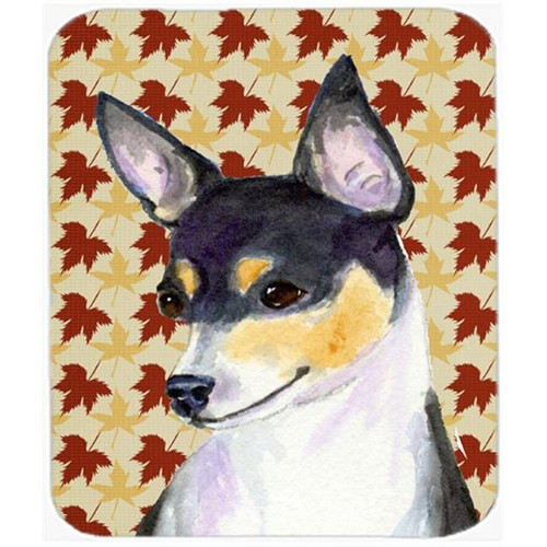 Carolines Treasures SS4338MP Chihuahua Fall Leaves Portrait Mouse Pad Hot Pad Or Trivet