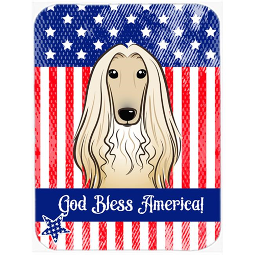 Carolines Treasures BB2174MP God Bless American Flag with Afghan Hound Mouse Pad Hot Pad or Trivet