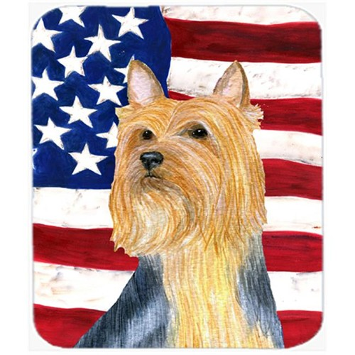 Carolines Treasures SS4250MP Usa American Flag With Silky Terrier Mouse Pad Hot Pad Or Trivet