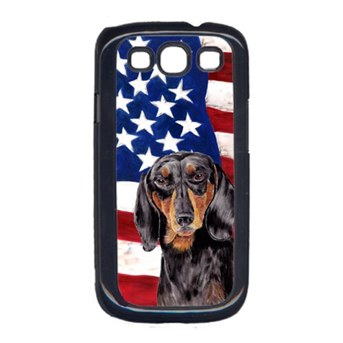 Carolines Treasures SC9003GALAXYS3 USA American Flag with Dachshund Cell Phone Cover GALAXY S111