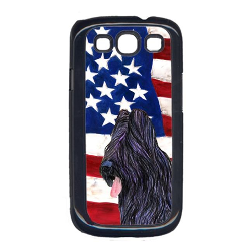Carolines Treasures SS4052GALAXYS3 USA American Flag with Briard Cell Phone Cover GALAXY S111