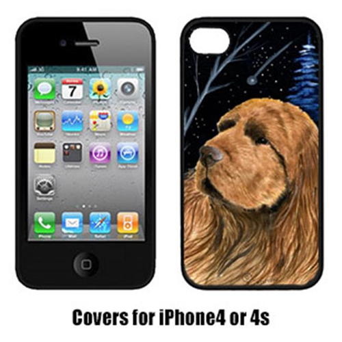 Carolines Treasures SS8391IP4 Starry Night Sussex Spaniel Cell Phone cover IPhone 4