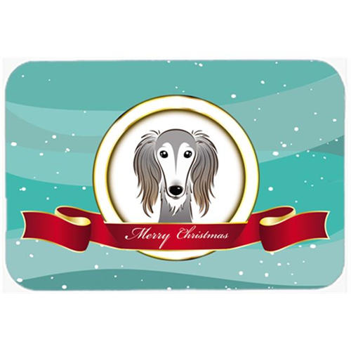 Carolines Treasures BB1539MP Saluki Merry Christmas Mouse Pad Hot Pad & Trivet
