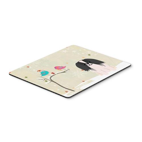 Carolines Treasures BB2577MP Christmas Presents Between Friends Pekingnese Black & White Mouse Pad Hot Pad or Trivet