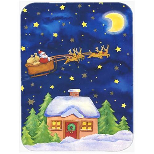 Carolines Treasures APH5898MP Christmas Santa Claus Across the Sky Mouse Pad Hot Pad or Trivet
