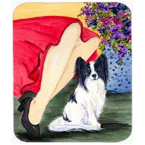 Carolines Treasures SS8523MP Lady With Her Papillon Mouse Pad Hot Pad or Trivet