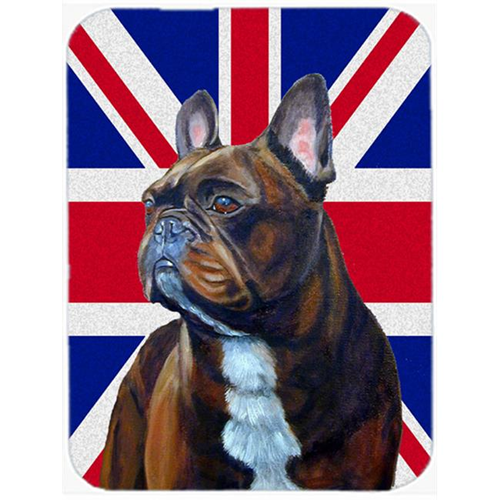 Carolines Treasures LH9492MP 7.75 x 9.25 In. French Bulldog With English Union Jack British Flag Mouse Pad Hot Pad Or Trivet