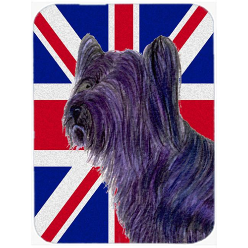 Carolines Treasures SS4905MP 7.75 x 9.25 In. Skye Terrier With English Union Jack British Flag Mouse Pad Hot Pad Or Trivet