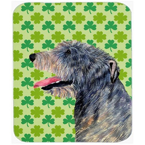 Carolines Treasures SS4437MP 9.5 x 8 in. Irish Wolfhound St. Patricks Day Shamrock Mouse Pad Hot Pad or Trivet
