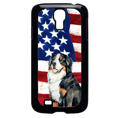 Carolines Treasures LH9003GALAXYS4 USA American Flag with Bernese Mountain Dog Cell Phone Cover GALAXY S4
