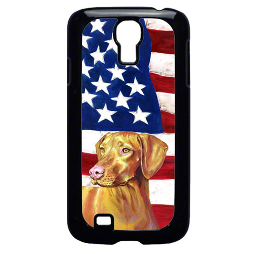 Carolines Treasures LH9012GALAXYS4 USA American Flag with Vizsla Cell Phone Cover GALAXY S4