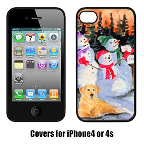 Carolines Treasures SS8989IP4 Snowman With Golden Retriever Cell Phone Cover Iphone4